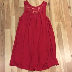 Dresses & Skirts - Red dress with neckline cutouts